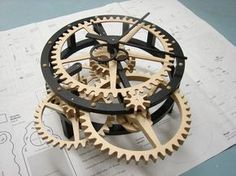 diy wooden clock plans add a glass face to write on with expos (or maybe cut the whole thing out of glass) Wooden Clock Plans, Wooden Gear Clock, Wooden Gears, Wood Clocks, Woodworking Furniture Plans, Woodworking Projects That Sell, Kids Woodworking, Woodworking Equipment, Diy Clock