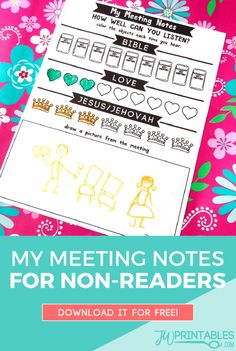 My Meeting Notes / Non-Reader Version | JW Printables