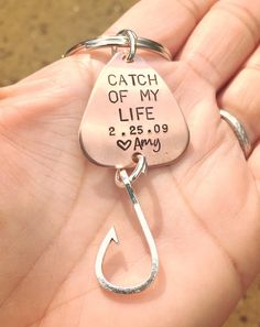A personal favorite from my Etsy shop https://www.etsy.com/listing/269121262/fishing-keychain-boyfriend-gift-fishing