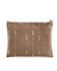This screen printed suede clutch is so good! $36