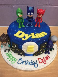 PJ masks birthday cake.