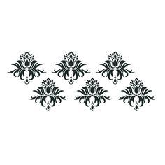 "Multiple Leaf Damask Large Format Stencil by Artisan Enhancements 29"" x 13"""