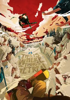 Winter X Games by Golden Wolf, via Behance