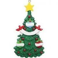 This Christmas tree has tons of glitter, multi-colored balls and a star on top. Fantastic traditional personalized family of 3 Christmas ornament that can represent grandchildren, siblings, cousins or friends. Baby's 1st Christmas Ornament, Babys 1st Christmas, Christmas Couple, Green Christmas, Christmas Decorations, Christmas Tree, Green Glitter, Personalized Christmas Ornaments, Just For You