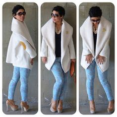 Loooovvvveeee the coat. It's what outerwear dreams are made of. Fashion Sewing, Diy Fashion, Autumn Fashion, Tattoo Trend, Casual Outfits, Cute Outfits, Do It Yourself Fashion, Poncho, Vogue Patterns