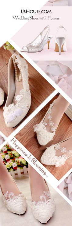 Make your happiness like blooming flowers on your wedding shoes. #JJsHouse