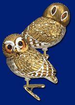 "Pygmy owl clip on Christmas ornament 3 1/4"""