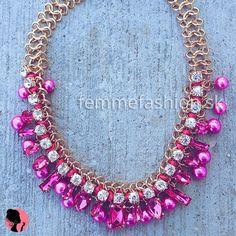 Náhrdelník Picasso Pink #necklace #necklaces #accessories #bijouterie #bizuteria #nahrdelník #jewelry  http://femmefashion.sk/nahrdelniky/2537-nahrdelnik-picasso-pink.html