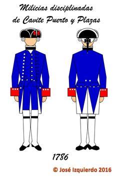 Milicias disciplinadas de Cavite Puerto y Plazas, 1786