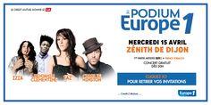 Pour les 60 ans d'Europe 1, les Podiums d'Europe 1 reviennent ! Après des concerts à Strasbourg et à Nancy, rendez-vous à Dijon le 15 avril.