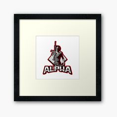 'I'm The Alpha Framed Print by CavemanMedia Centerpiece Decorations, Work From Home Moms, Off Colour, Custom Boxes, Box Frames, Framed Art Prints, Decorative Throw Pillows, Print Design, My Arts