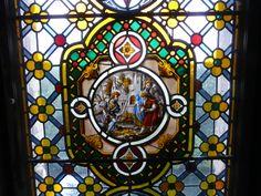 Window in Warwick Castle, Warwick, England. Warwick Castle, The Beautiful Country, Stained Glass Windows, Warwick England, Mirror, October, Art, Angels, Art Background