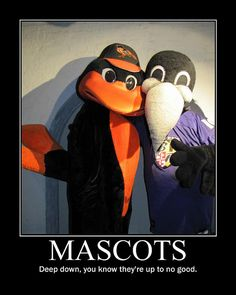BALTIMORE ORIOLES / RAVENS Mascots by DarkJediKnight, via Flickr