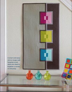 = free pattern = In The Mirror wall hanging at Modern Quilts Unlimited