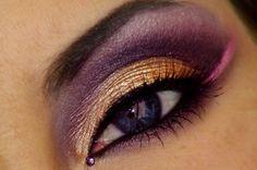 warm gold violet pink eye makeup