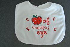 Apple of Grandpa's eye by EmbroiderybyJoAnn on Etsy