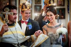 Eastern Orthodox wedding crowns!