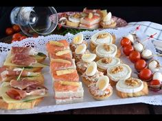 5 aperitivos o canapés fáciles y rápidos - YouTube Canapes Faciles, Healthy Diners, Nibbles For Party, Salty Foods, Mini Foods, I Love Food, Finger Foods, Holiday Recipes, Catering