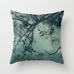 The Enchanted Forest Throw Pillow by Bella Blue Photography - $20.00