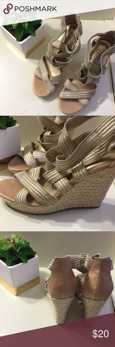 Jessica Simpson wedges Jessica Simpson gold wedges- so cute! Jessica Simpson Shoes Wedges