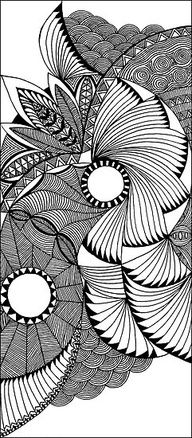 black and white zen tangle patterns - Google Search