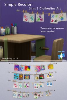 Simple Recolor - Veranka's Conversion of Aurora Skies Clothesline ArtThis is something I just found (as I am transferring files) that I did a long item ago and never released. It isn't big, just a few recolors of the converted Sims 3 Aurora Skies...