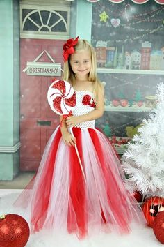 Dress mrs claus tutu dress christmas tutu dress girls holiday