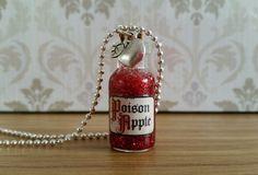 Poison Apple Necklace Glass Bottle Pendant Snow White Jewellery Gift Fancy Dress