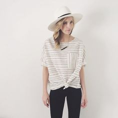 love the big hat and strait necklace | takeyourten.com