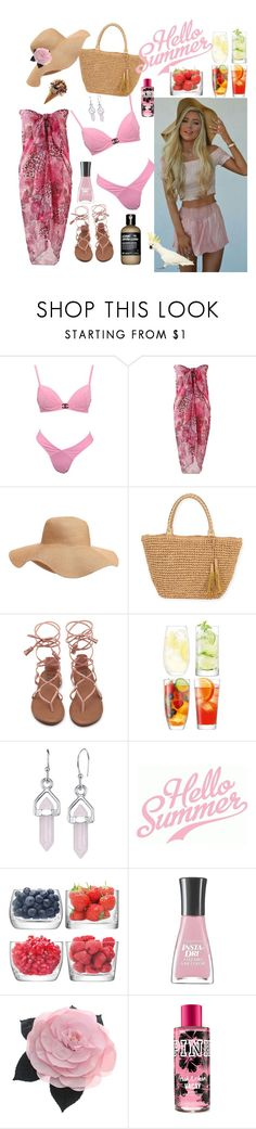 """""""Hello Summer"""" by dobesht ❤ liked on Polyvore featuring Old Navy, Sun N' Sand, LSA International, Bridge Jewelry, Sally Hansen and Chanel"""