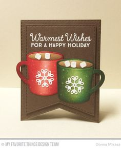 card cup MFT hot cocoa cups Die-namics  three umbrellas: 2016 Winter Coffee Lovers Blog Hop