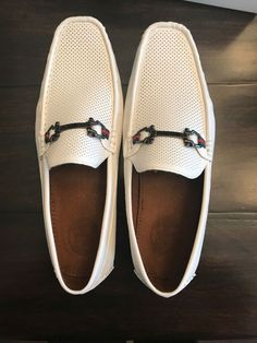 3391b489c8b Casual Shoes · Amali Men s Driving Moccasin perforated loafer Size 12 white  horsebit NEW  fashion  clothing