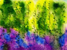 Bluebells Print by Daisy Cheyne via Cloud 9 Gallery. Click on the image to see more!