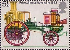 Fire Service 5.5p Stamp (1974) Prize-winning Fire-engine, 1863