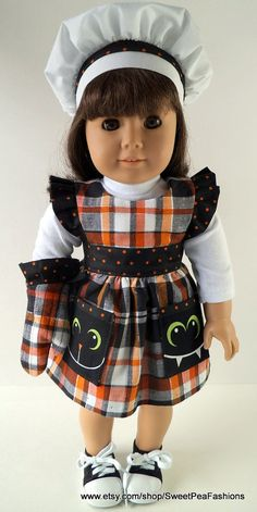 American Girl Halloween Pinafore Apron Set by SweetPeaFashions, $13.00