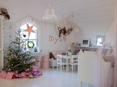 Anna Truelsen interior stylist - love this baby nursery transformed for Christmas