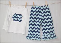 TARHEELS UNC girls toddler north carolina chevron by wrententen, $42.00