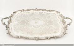 Tea Tray Silver Tea Tray, Serveware, Antique Silver, Copper, Houses, Chain, My Favorite Things, Bedroom, Antiques