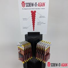 Did you know a single anchor can repair 3 to 4 stripped holes? Get Screw-It-Again today to avoid the hassle and frustration of stripped wood screw holes. Halloween Projects, Fall Halloween, Diy Projects, Stripped Screw, Wood Anchor, Screw It, Wood Screws, Types Of Wood, Kit