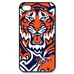 Detroit Tigers Baseball iPhone 4 or 4S Plastic black case cover 02014  $16.99 at Gejobak #Bonanza store