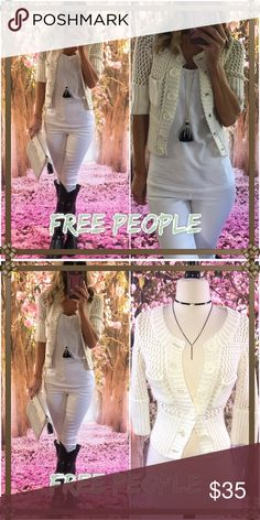 ⭐️Free⭐️ Free people button knot cardi-spring fun-easy as a throw over or sassy chic with jeans and that summer T☀️-. It's almost perfect! Free People Sweaters Cardigans