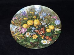 """1989 Furstenberg Wild Beauties """"By the Pond"""" Collector Plate by Hans Grab by ThePlateHutchII on Etsy"""