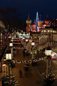 5 Places with Spectacular Christmas Lights - Tivoli Gardens, Copenhagen, Denmark Places Around The World, Oh The Places You'll Go, Travel Around The World, Places To Travel, Places To Visit, Around The Worlds, Travel Destinations, Sunshine Coast Australia, Illumination Noel