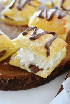 Chocolate-Filled Real Cream Squares via @savvysavingcoup