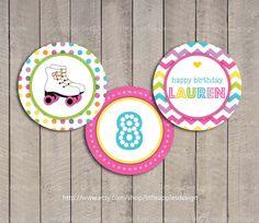 Roller Skate Cupcake Toppers / Roller Skate by LittleApplesDesign, $6.00