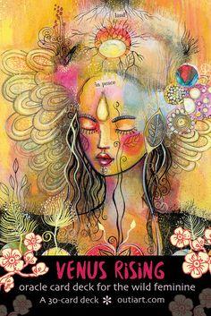 Venus Rising tarjetas de oracle por outiart en Etsy