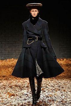Gotta Love the movement of this McQ by Alexander McQueen coat... #LondonFashionWeek