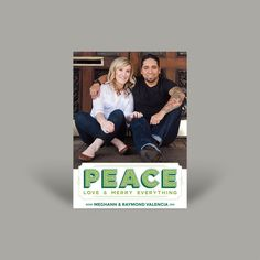 Your photo will look great on this Peace photo card. Printed in Canada. A professional graphic designer will email you a personalized proof for approval before