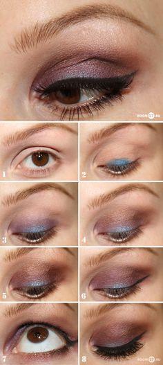 DIY :: Plummy eye w/ a hint of teal Tutorial. My style. | #eyeshadow #diymakeup #makeuptutorial