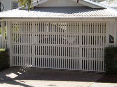 Custom Garage Door Pictures - Brisbane Garage Doors Small Fence, Horizontal Fence, Front Yard Fence, Fenced In Yard, Fence Landscaping, Backyard Fences, Pool Fence, Fence Doors, Fence Gate
